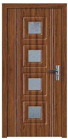 Интериорна HDF врата модел 021 Орех