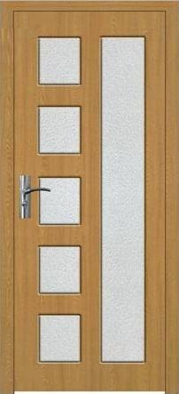 Интериорна HDF врата модел 048 Светъл дъб