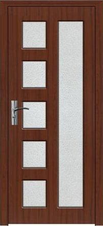 Интериорна HDF врата модел 048 Орех