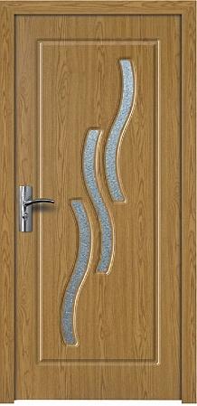 Интериорна HDF врата модел 014 Светъл дъб