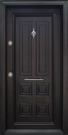Блиндирана входна врата модел Т503 Тъмен орех