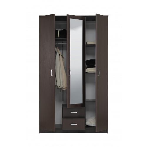 Брой врати: 5         Система за отваряне на вратата: врати на панти         Височина (см): 207.70 :Венге + бежово         Чело Материал: ПДЧ меламиново покритие         Стил: Модерен         Брой чекмеджета: 4